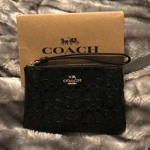 Coach Black Wristlet New